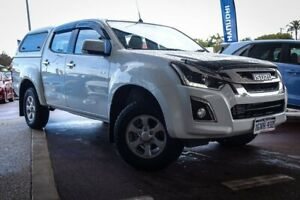 2019 Isuzu D-MAX MY19 LS-M Crew Cab White 6 Speed Sports Automatic Utility Maddington Gosnells Area Preview