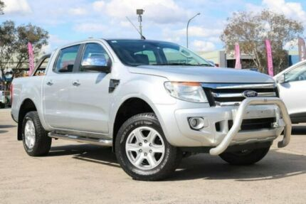 2012 Ford Ranger PX XLT Double Cab Silver 6 Speed Manual Utility Smeaton Grange Camden Area Preview