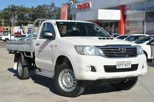 2014 Toyota Hilux KUN26R MY14 SR (4x4) White 5 Speed Manual Cab Chassis Wyoming Gosford Area Preview