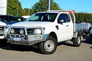 2013 Ford Ranger PX XL Super Cab White 6 Speed Manual Cab Chassis Midland Swan Area Preview