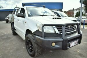 2011 Toyota Hilux KUN26R MY10 SR White 5 Speed Manual Cab Chassis Liverpool Liverpool Area Preview