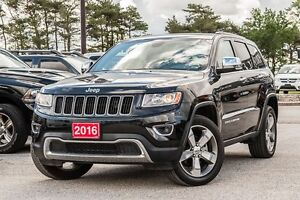 2016 Jeep Grand Cherokee LIMITED WITH NAVIGATION AND SUNROOF!!!
