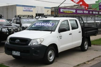 2011 Toyota Hilux TGN16R MY10 Workmate 4x2 White 5 Speed Manual Utility Altona North Hobsons Bay Area Preview