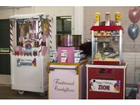 Candy Floss, Popcorn, Slush Machine, Sweet Cones/Cart, Mascots, DJ, Ballon/ Hall Deco & many more