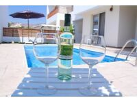 Cyprus, Paphos beautiful 3 bedroom villa with private pool and sea view.