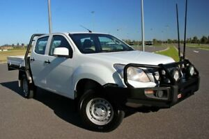 2016 Isuzu D-MAX MY15 SX Crew Cab White 5 Speed Manual Cab Chassis Officer Cardinia Area Preview