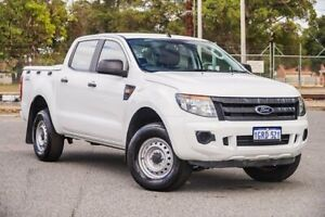 2014 Ford Ranger PX XL Double Cab White 6 Speed Sports Automatic Utility Gosnells Gosnells Area Preview