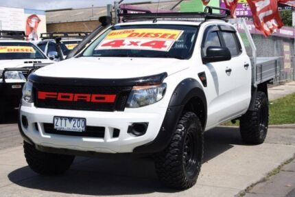 2013 Ford Ranger PX XL Double Cab White 6 Speed Sports Automatic Cab Chassis