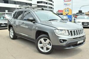 2012 Jeep Compass MK Limited Wagon 5dr CVT Auto Stick 6sp 4x4 2.4i [MY12] Grey Constant Variable