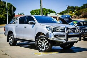 2018 Toyota Hilux GUN126R SR5 Double Cab Silver 6 Speed Manual Utility