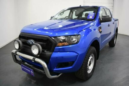 2017 Ford Ranger PX MkII MY17 XL 2.2 (4x4) Winning Blue 6 Speed Automatic Crew Cab Utility Oakleigh Monash Area Preview
