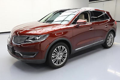 2016 Lincoln MKX Reserve Sport Utility 4-Door: 2016 LINCOLN MKX RESERVE PANO NAV CLIMATE LEATHER 26K #L44764 Texas Direct Auto