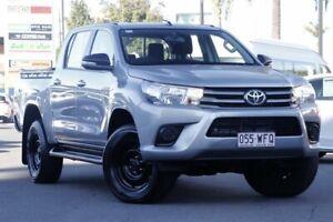 2015 Toyota Hilux GUN126R SR Double Cab Silver 6 Speed Manual Utility Upper Mount Gravatt Brisbane South East Preview