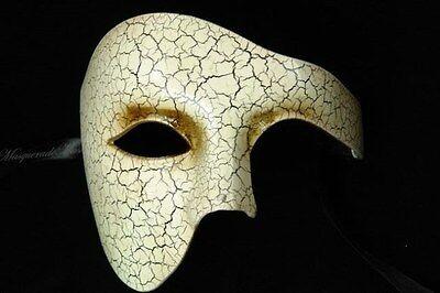 Mens Masquerade Mask Phantom Venetian Half Face Halloween Party Eye Mask - Phantom Halloween Face