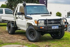 2014 Toyota Landcruiser VDJ79R MY13 Workmate White 5 Speed Manual Cab Chassis Wangara Wanneroo Area Preview