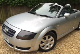 **Audi TT Roadster silver convertible, 2003 future classic, only 2 owners + 11 months MOT **