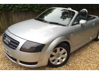 **Audi TT Roadster silver convertible, 2003, comes with 11 months MOT **