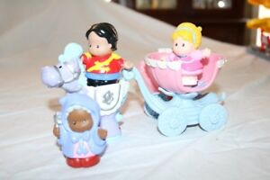 Fisher Price Little People Cinderella Fairy godmother and Prince