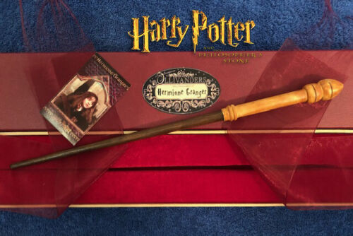 """Hermione Granger 1st Wand 14"""", REAL WOOD, Harry Potter Wizarding World, RARE, HP"""