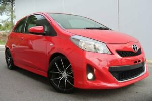 2012 Toyota Yaris NCP131R ZR Red 5 Speed Manual Hatchback Old Reynella Morphett Vale Area Preview
