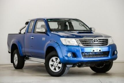 2013 Toyota Hilux KUN26R MY12 SR5 Double Cab Blue 5 Speed Manual Utility Mansfield Brisbane South East Preview