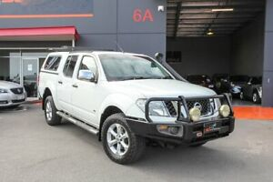 2012 Nissan Navara D40 S5 MY12 ST-X 550 White 7 Speed Sports Automatic Utility Lonsdale Morphett Vale Area Preview