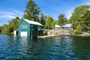 WATERFRONT RETREAT - 4 COTTAGES - 2 BOAT HOUSES - FURNISHED