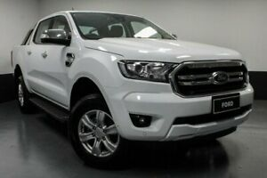 2018 Ford Ranger PX MkIII 2019.00MY XLT Pick-up Double Cab 4x2 Hi-Rider Frozen White 6 Speed Glendale Lake Macquarie Area Preview