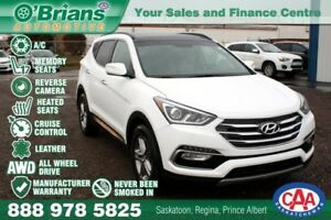 2018 Hyundai Santa Fe Sport SE w/Mfg Warranty, AWD, Leather