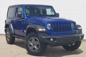 2019 Jeep Wrangler JL MY19 Sport S Ocean Blue 8 Speed Automatic Softtop