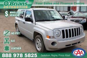 2008 Jeep Patriot Sport No PST, Wholesale Unit w/Leather, 4x4