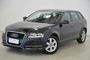 2011 Audi A3 8P MY11 Black 7 Speed Sports Automatic Dual Clutch Hatchback Mansfield Brisbane South East Preview