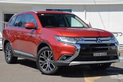 2016 Mitsubishi Outlander ZK MY16 LS 4WD Red 6 Speed Constant Variable Wagon Gosford Gosford Area Preview