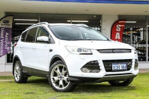 2015 Ford Kuga TF MY15 Titanium PwrShift AWD White 6 Speed Sports Automatic Dual Clutch Wagon Victoria Park Victoria Park Area Preview