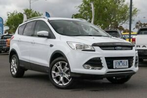 2015 Ford Kuga TF MY15 Trend PwrShift AWD White 6 Speed Sports Automatic Dual Clutch Wagon