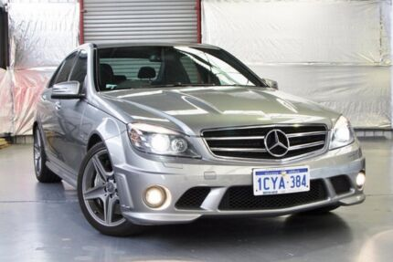 2008 Mercedes-Benz C63 W204 AMG Palladium Silver 7 Speed Sports Automatic Sedan Myaree Melville Area Preview
