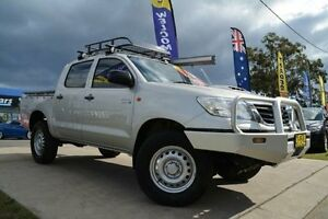 2012 Toyota Hilux KUN26R MY12 SR (4x4) Silver 5 Speed Manual Dual Cab Pick-up Mulgrave Hawkesbury Area Preview