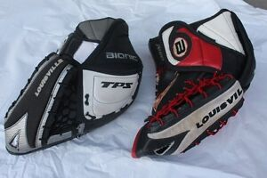 2 LH TPS Louisville Ice hockey goalie glove for sale  Local pick