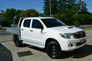 2015 Toyota Hilux SR White 5 Speed Manual Dual Cab Beaudesert Ipswich South Preview