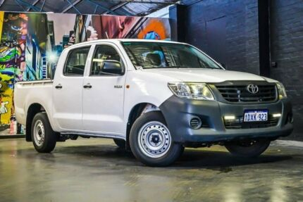2012 Toyota Hilux TGN16R MY12 Workmate Double Cab White 4 Speed Automatic Utility