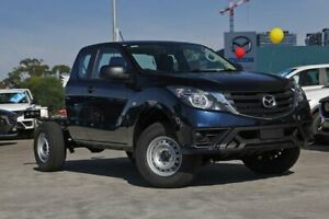 2019 Mazda BT-50 MY18 XT (4x4) (5Yr) Deep Crystal Blue 6 Speed Automatic Freestyle Cab Chassis Kirrawee Sutherland Area Preview