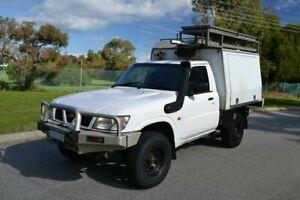 2002 Nissan Patrol GU DX (4x4) White 5 Speed Manual 4x4 Leaf Cab Chassis Rockingham Rockingham Area Preview