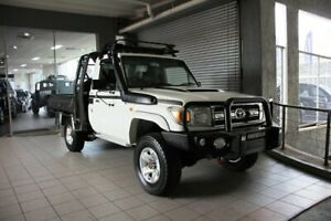 2009 Toyota Landcruiser VDJ78R Workmate (4x4) 3 Seat White 5 Speed Manual TroopCarrier Thornleigh Hornsby Area Preview