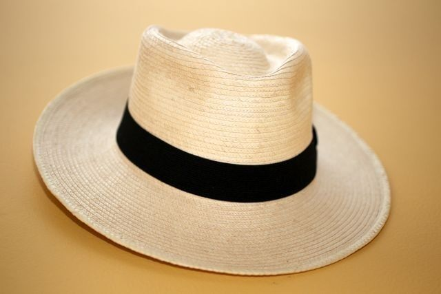 HAND CRAFTED WIDE BRIM PANAMA HAT ORIGINAL FROM SOUTH AMERICA