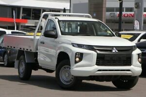 2018 Mitsubishi Triton MR MY19 GLX White 5 Speed Manual Cab Chassis Caloundra West Caloundra Area Preview