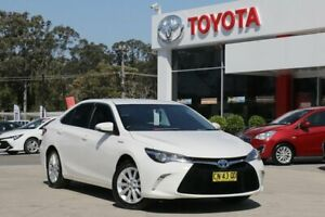 2015 Toyota Camry AVV50R MY15 Atara S Hybrid White Continuous Variable Sedan Wyoming Gosford Area Preview