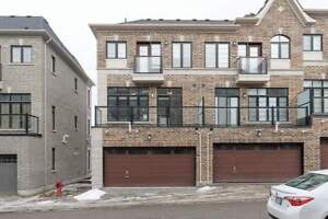 Location!!! Brand New Double Car Garage End Unit Townhouse