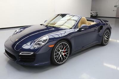 2014 Porsche 911 Turbo S Convertible 2-Door: 2014 PORSCHE 911 TURBO CABRIOLET AWD PDK NAV 20'S 23K #173555 Texas Direct Auto