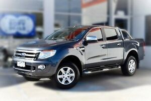 2014 Ford Ranger PX XLT Double Cab 4x2 Hi-Rider Grey 6 Speed Sports Automatic Utility Berwick Casey Area Preview