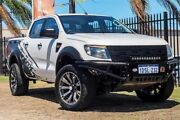2011 Ford Ranger PX XL Double Cab White 6 Speed Sports Automatic Utility Wangara Wanneroo Area Preview